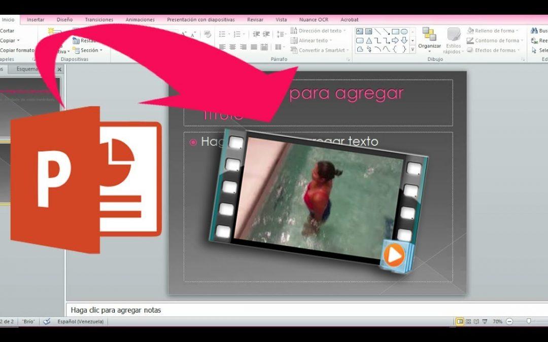 Realizar vídeos para clases con Power Point